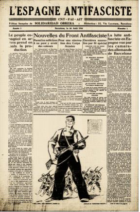 <em>L'Espagne antifasciste</em>. Numéro du 22 août 1936